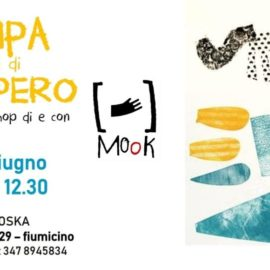 FAMILY WORKSHOP CON MOOK. La Stampa Con Materiali Di Recupero.